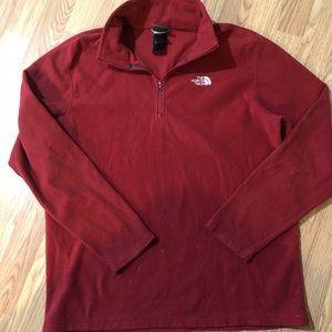 North Face Micro Fleece Sweatshirt Red
